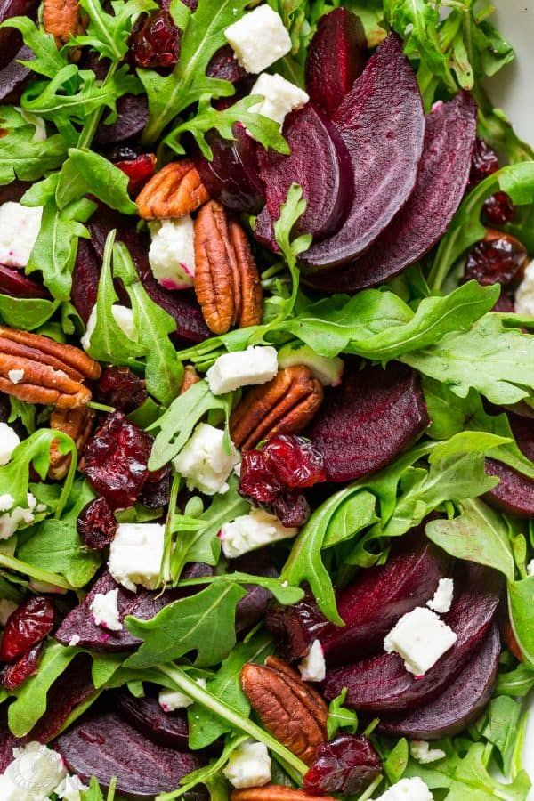 Beet Salad with Arugula and Balsamic Vinaigrette -