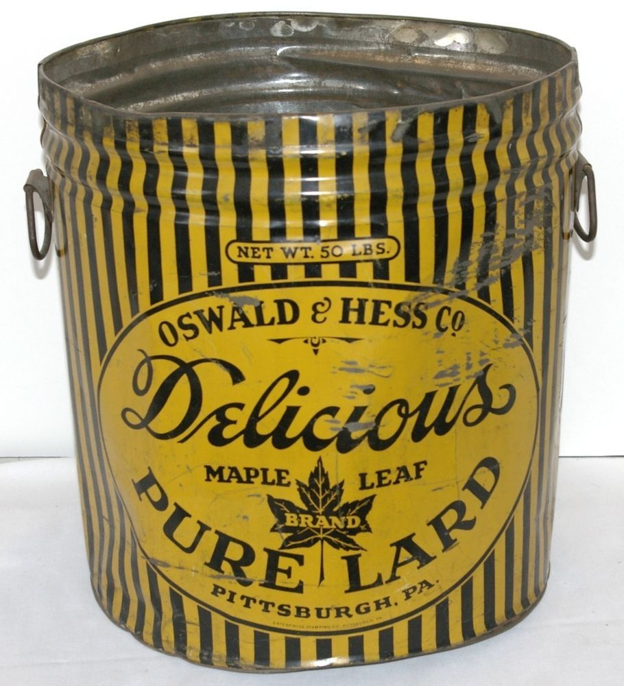 Vintage Oswald & Hess Pittsburgh Maple Leaf Brand Lard Advertising ...