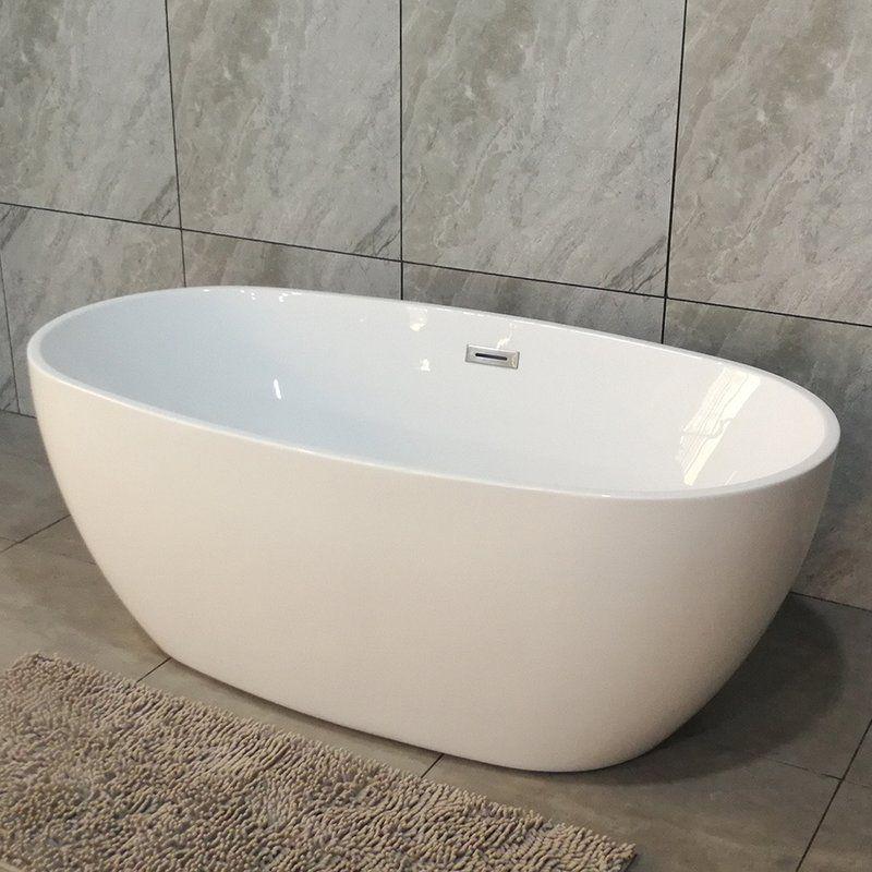 Higgenbotham 59 x 32 freestanding soaking bathtub