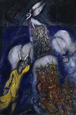 Marc Chagall - Between Surrealism & NeoPrimitivism - La traversée de la mer rouge - 1955