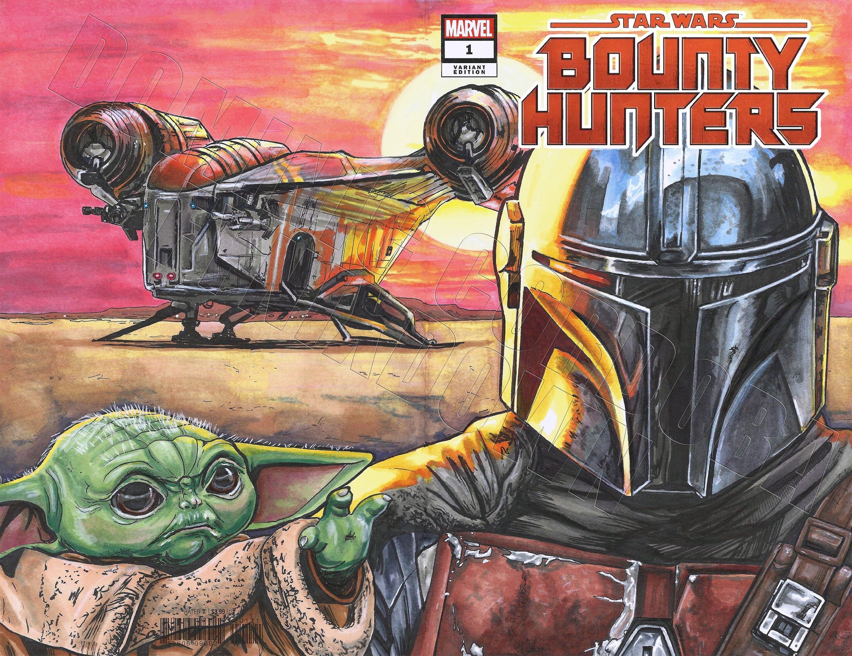 Preorder the mandalorian comic cover art print cover