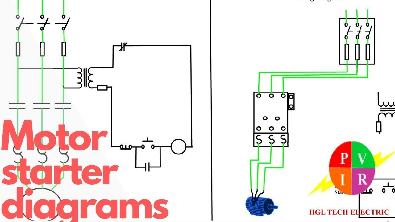 Motor Starter Diagram Start Stop 3 Wire Control Starting Motor Starter Diagram Start Stop 3 Wire Control Starting A Three Phase Motor Motor Starter Schemati Di 2020