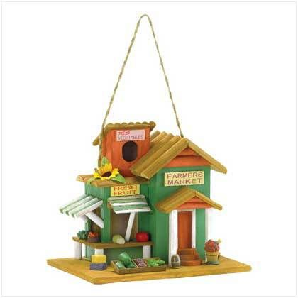 Farmer S Market Birdhouse Wooden Bird Houses Bird Houses Bird House