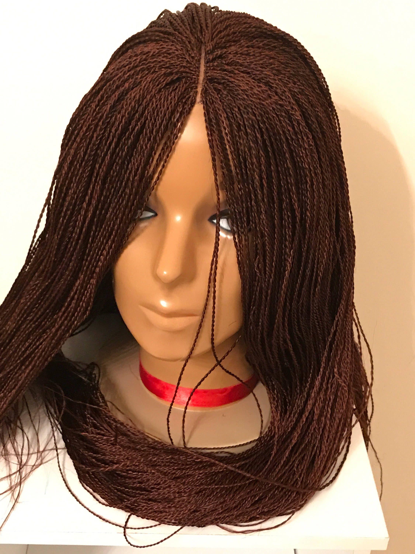 Million Braids 35 Custom Hand Braided Lace Wig Curly Braided Hairstyles Curly Hair Braids Braided Hairstyles