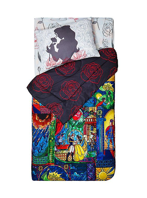 disney beauty and the beast stained glass twin xl