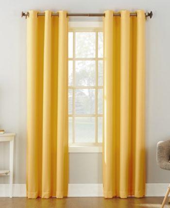 Lichtenberg No 918 Montego Casual Grommet Curtain 48 X 95 Panel Yellow Tirai Jendela Jendela Tirai
