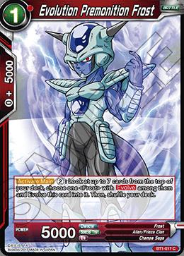 Evolution Premonition Frost Dragon ball, Evolution, Cards