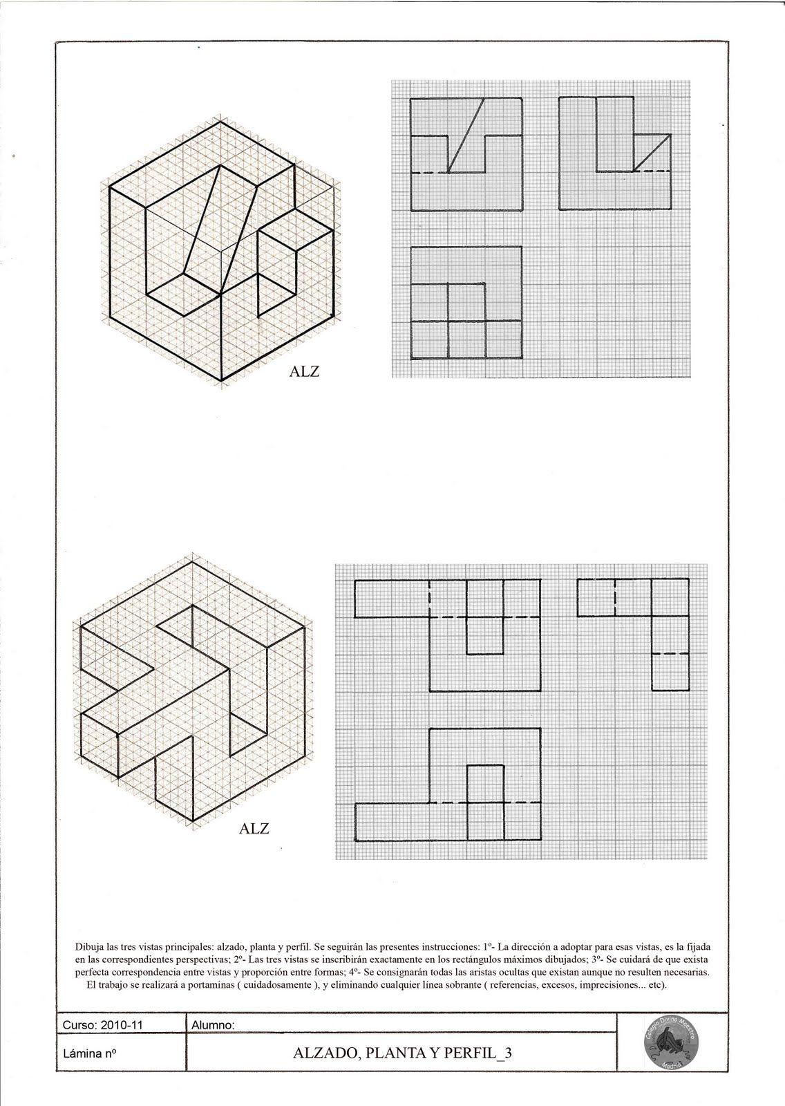 Plantilla Isometrica De Puntos Buscar Con Google Ejercicios De Dibujo Vistas Dibujo Tecnico Papel Isometrico