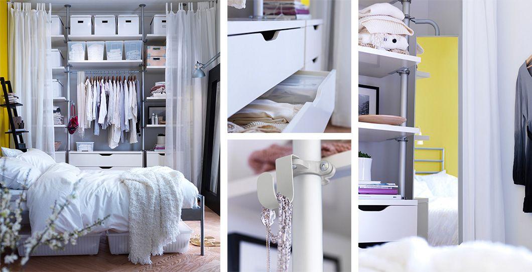 Mobiliario de dormitorio ikea detalle de caj n y for Ikea interior armarios