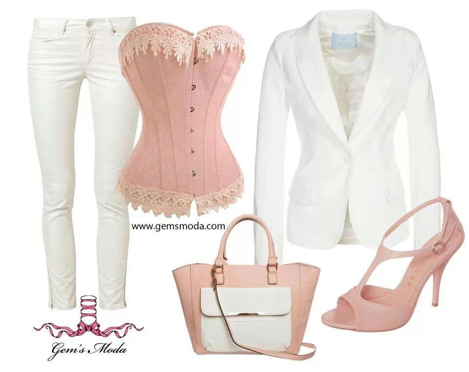 La combinación con CORSÉ de hoy: ideal para una cita elegante.  http://www.gemsmoda.com/p49898-ref-b17.html  #moda #look #outfit #corsé #gemsmoda
