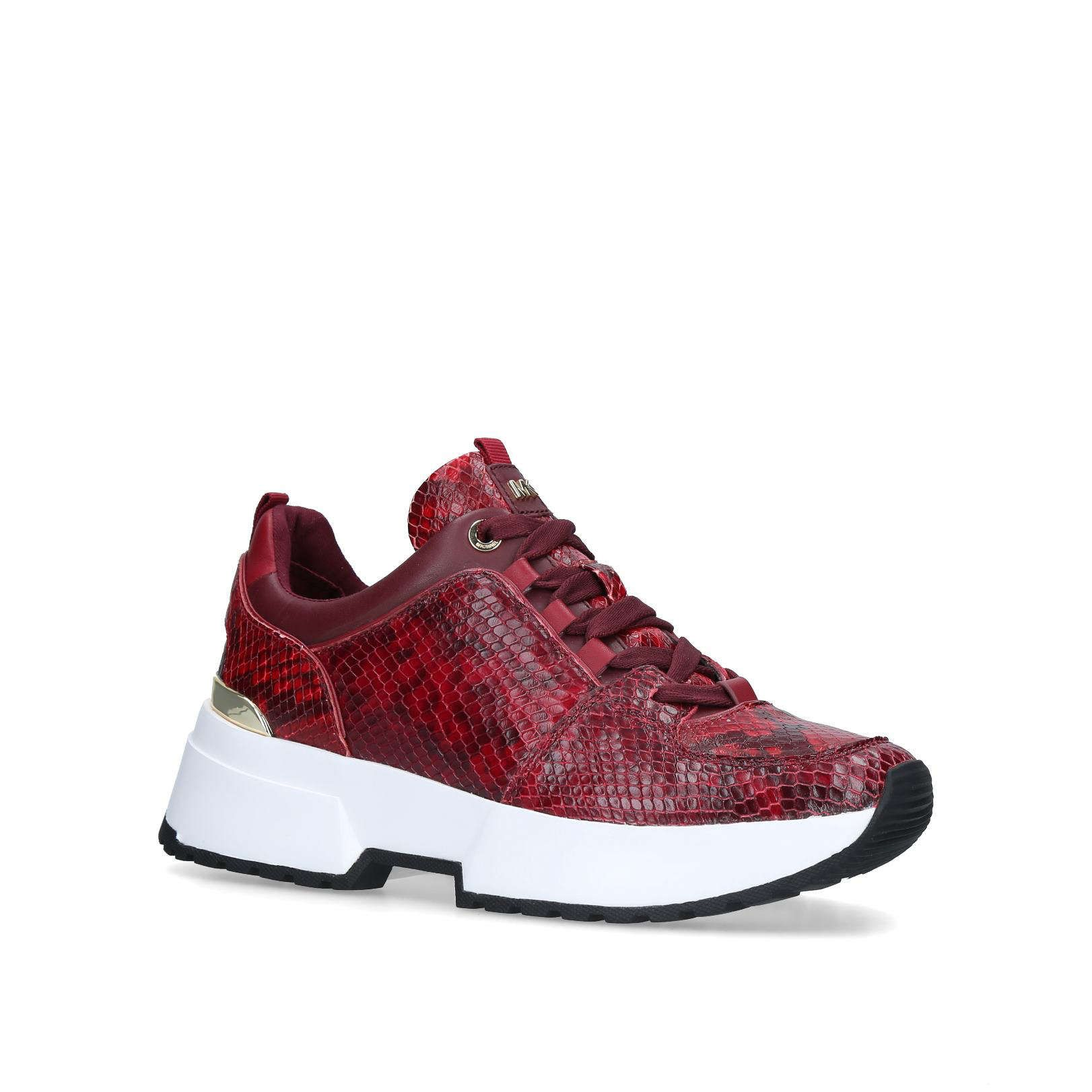 Shop COSMO TRAINER Red Snakeprint Low
