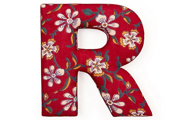 "One Kings Lane - The Whimsical Wall - Fabric Letter ""R"", Ingalls Red"