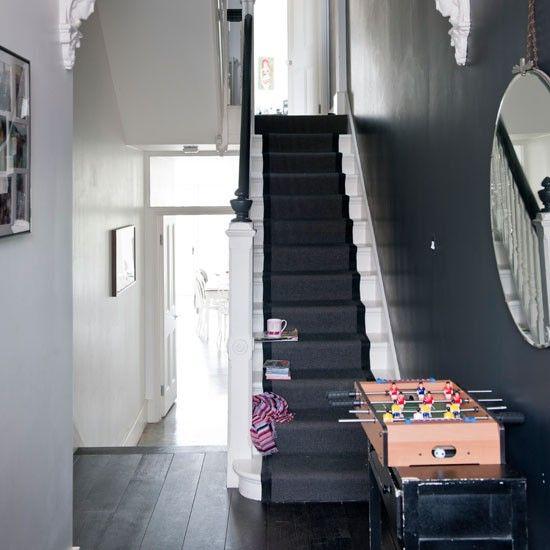 Flur Diele Wohnideen Möbel Dekoration Decoration Living Idea Interiors Home  Corridor   Eine Schwarz Weiße