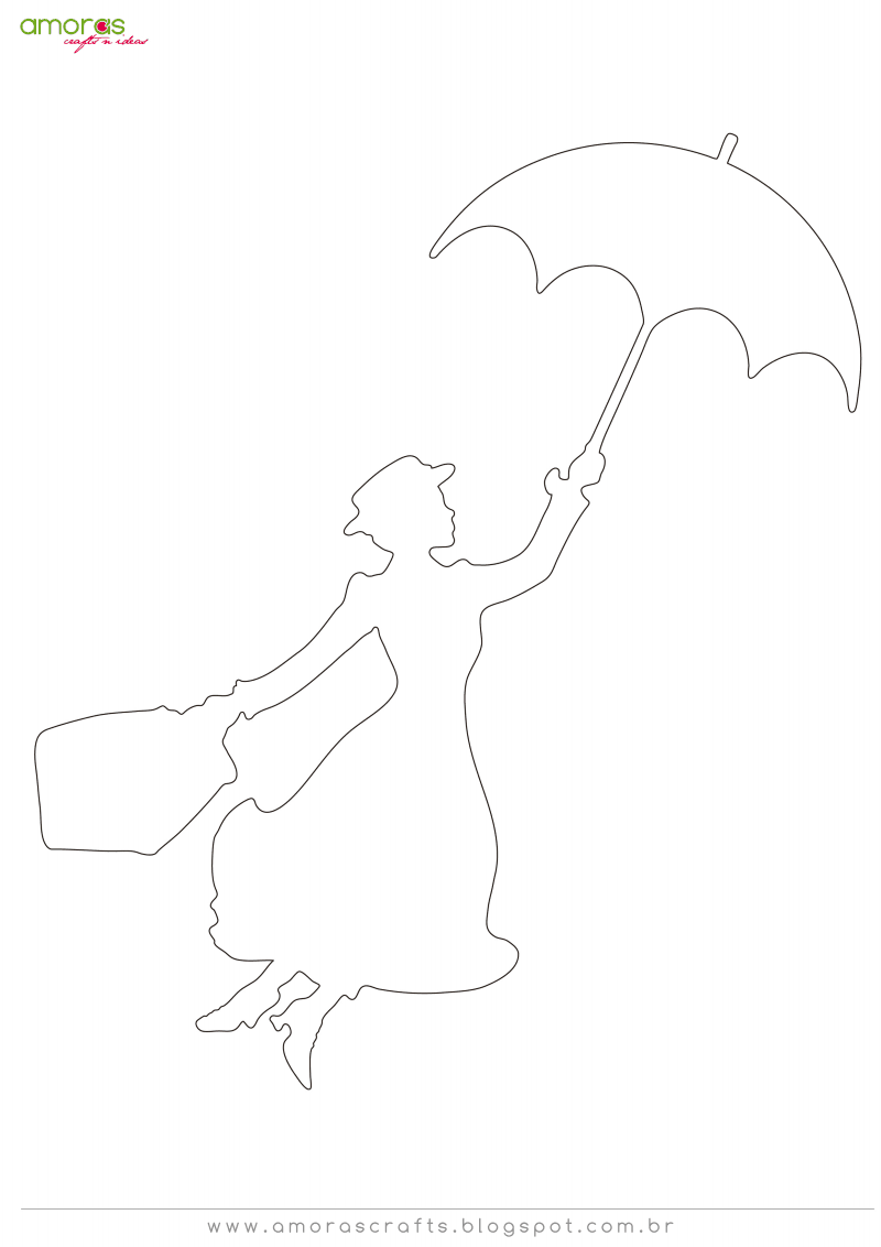 bebcf862415b5 Mary Poppins.pdf | applique | Mary poppins silhouette, Mary poppins ...