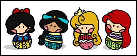 Cute Disney princess dolls