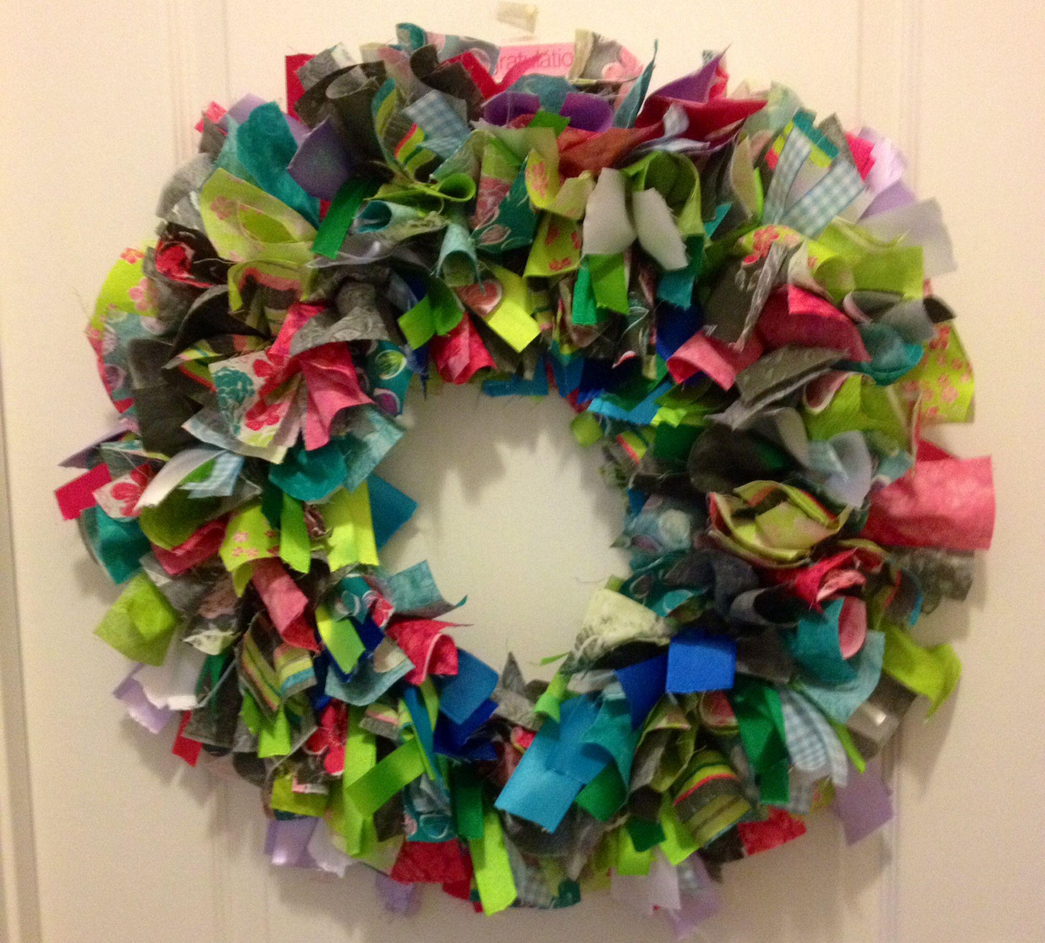 Summer rag wreath