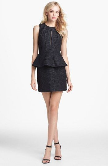 Keepsake the Label 'In Your Light' Jacquard Peplum Sheath Dress available at #Nordstrom