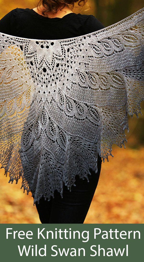 Free Knitting Pattern for Wild Swan Shawl  #laceknitting