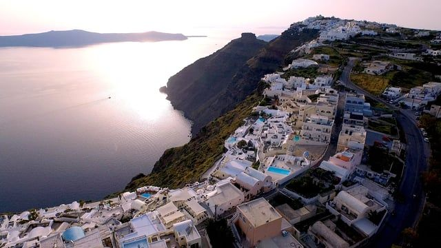 If you haven't visited the Greek Islands, this drone flyover of Santorini will convince you to go