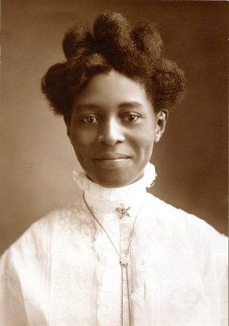 +~+~ Antique Photograph ~+~+ Young African American Alice Pugh McGaugh. 1908