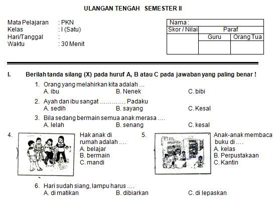 Pin Di Soal2 Sd