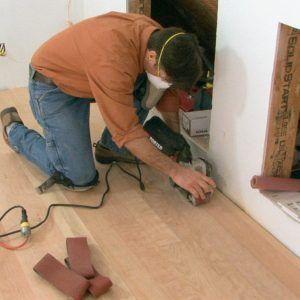 Sanding Hardwood Floors With A Belt Sander Images Flooring Wood