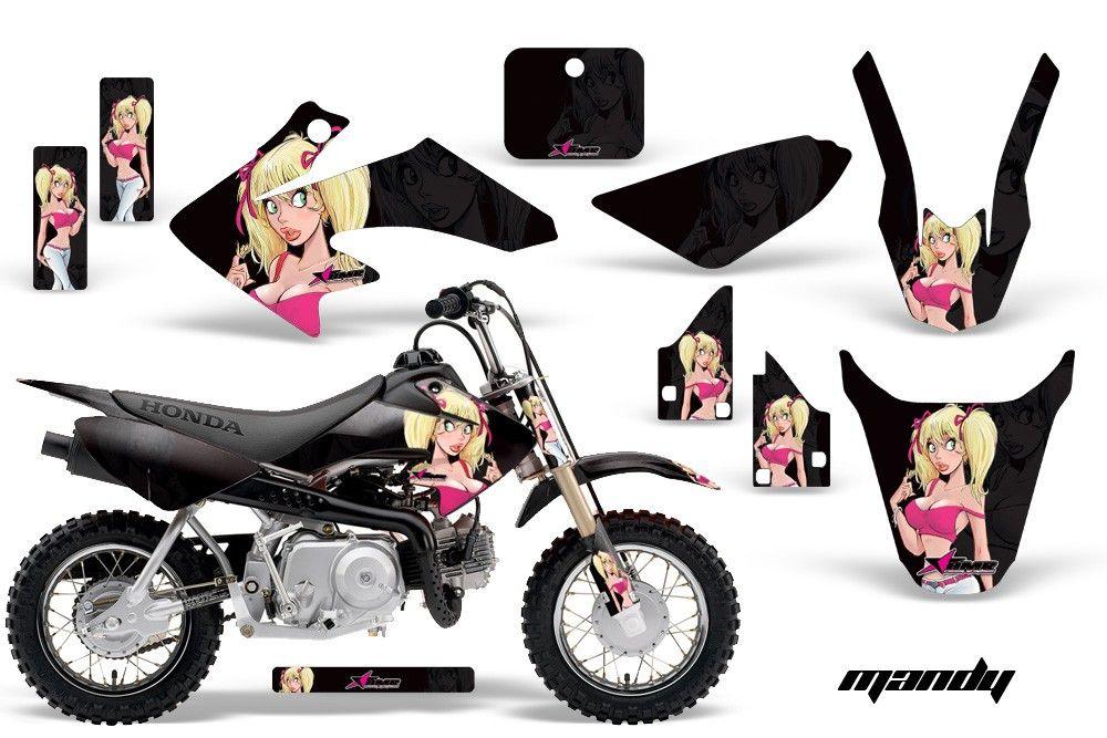 Honda Crf 50 Graphics Mandy Black Background Pink Design Http