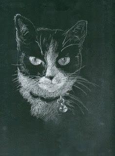 day 20 - Vader's close up - http://glasgowpainter.blogspot.co.uk/2015/02/kitty-portrait-day-20.html