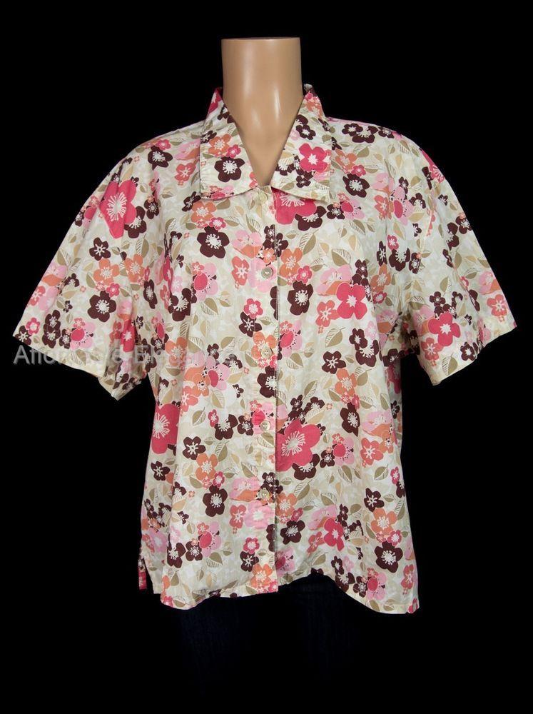 TILLEY ENDURABLES Shirt Plus 3XL 3X XXXL Short Sleeve Floral Travel Top $128 #TilleyEndurables #ButtonDownShirt #Casual