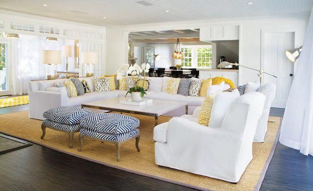 Great sofas with colour Casa de Lonchor Pinterest East hampton