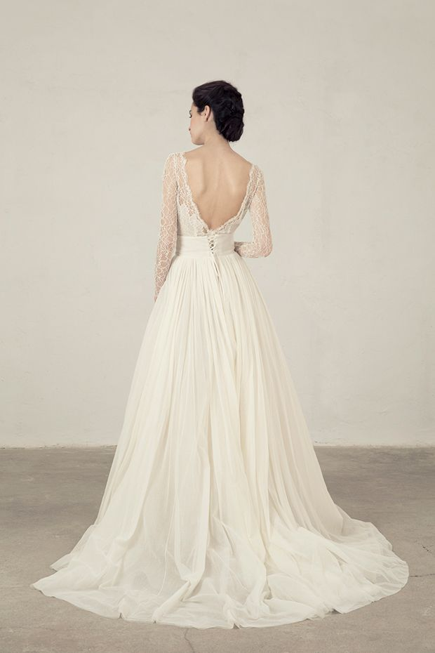 62e3e512f3f Silky Simplicity The Cortana Bridal Collection Wedding. Fortuny Top With Rice  Skirt From Cortana Wedding Dresses Bridal Collection Silk