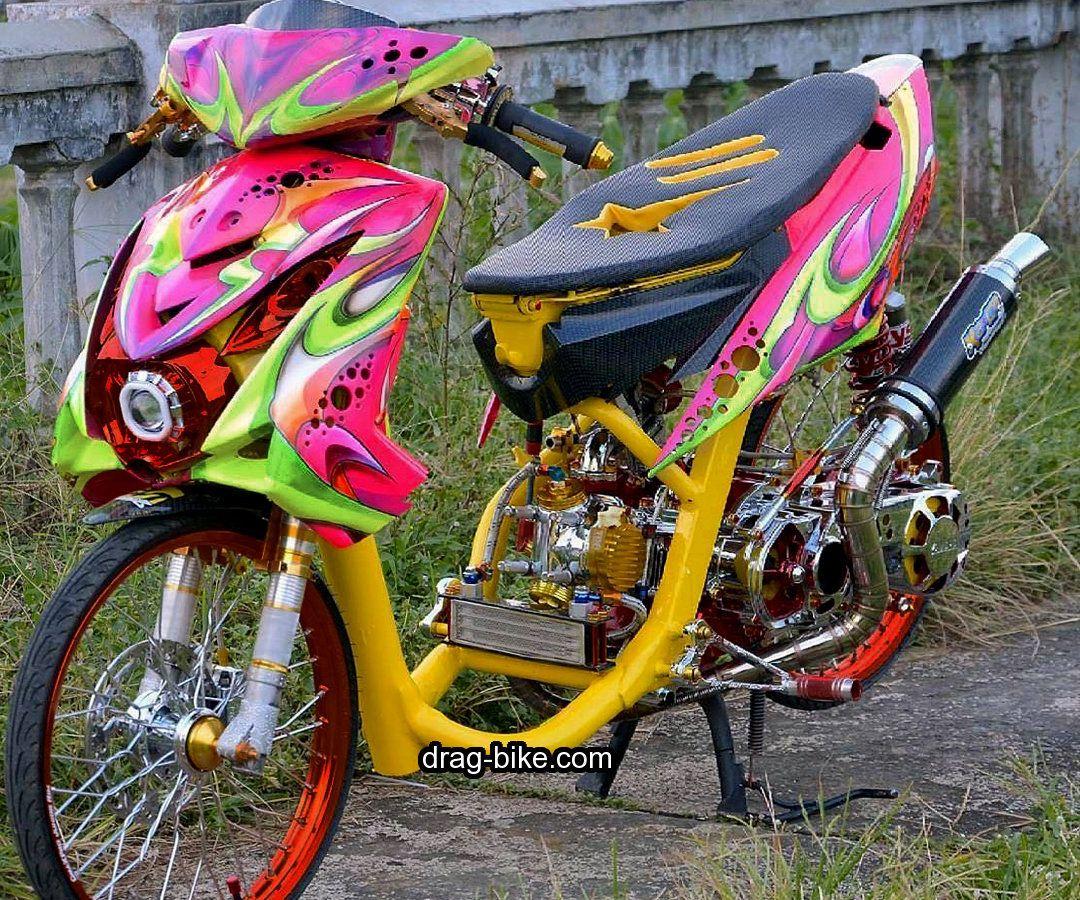 Gambar Modifikasi Mio Soul Airbrush Drag Racing Airbrush Sepeda
