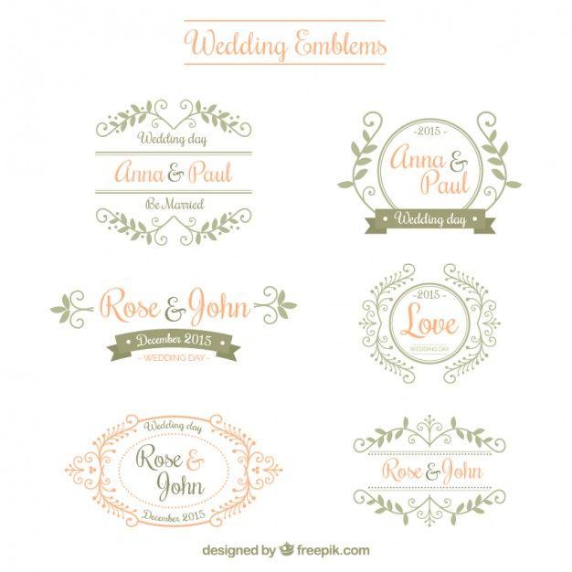 Emblemas do casamento ornamentais logos wedding logos and wedding emblemas do casamento ornamentais stopboris Choice Image