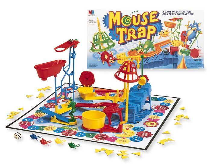 Mouse Trap board game set up