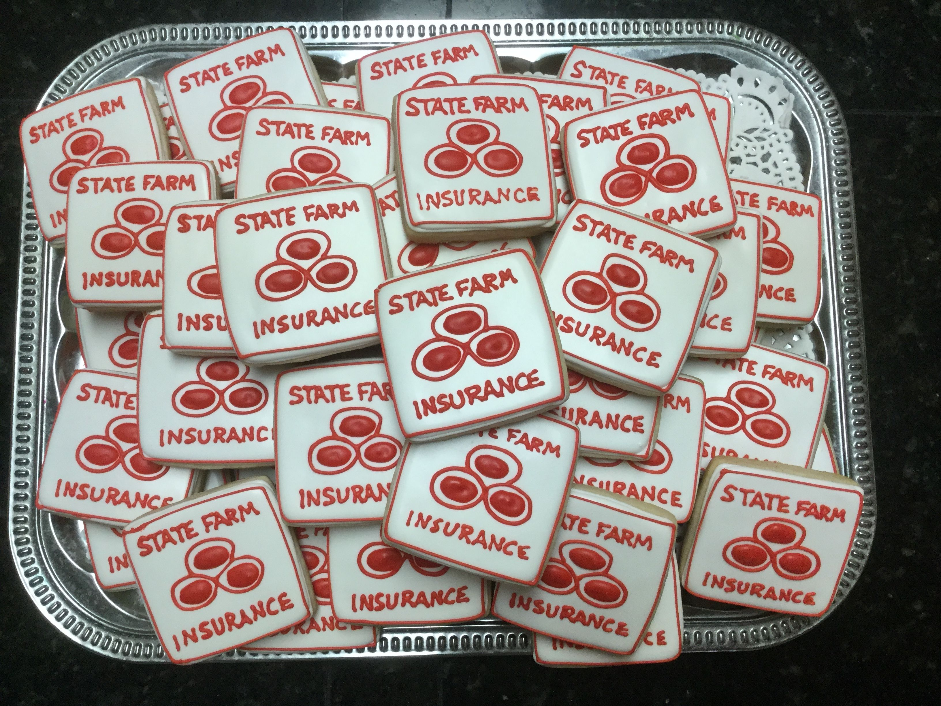 State Farm Insurance decorated sugar cookies Farm