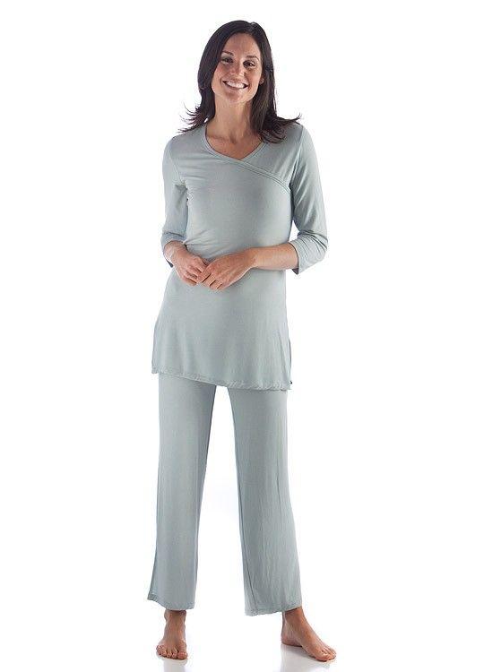 fbd5cb6af6 Bamboo Dreams ® Haley Pajama Set - Cielo Blue by Yala