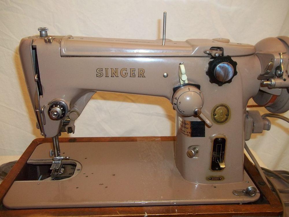 Vintage Singer 306K Sewing Machine motor works made in Great BRITAIN ...
