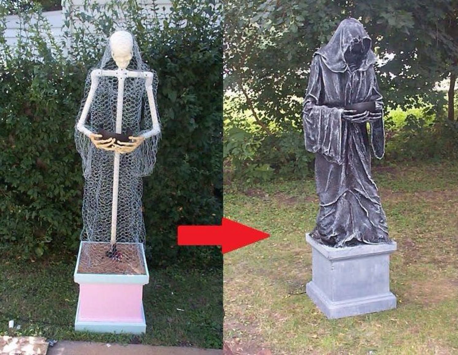 Grim Reaper from PVC pipes Halloween Pinterest Grim reaper - Inexpensive Halloween Decorations