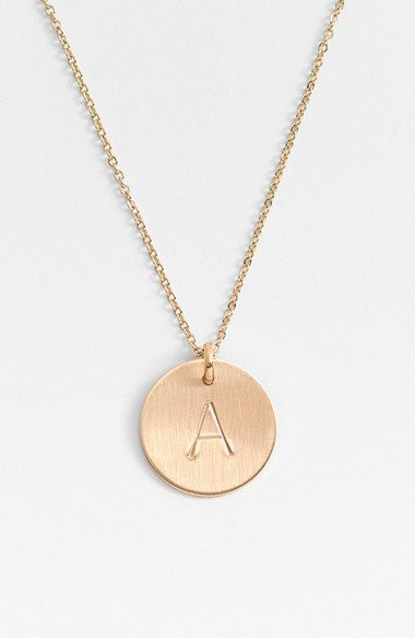 14k gold fill initial disc necklace initials disc necklace and free shipping and returns on nashelle 14k gold fill initial disc necklace at nordstrom mozeypictures Choice Image