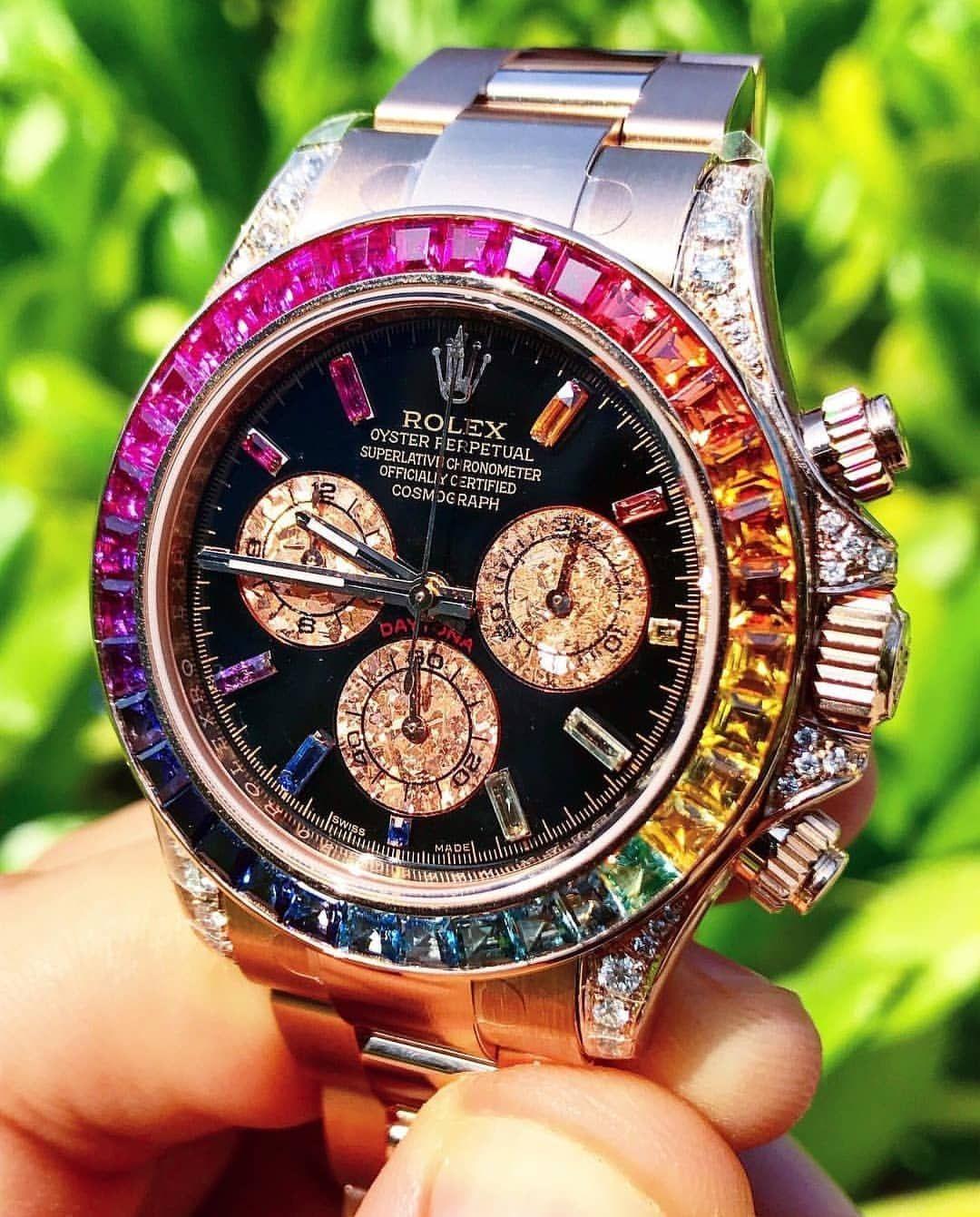 "Rolex Watches Swiss Luxury on Instagram  "" cagaudubai made a perfect  rainbow 🌈 Rolex Daytona"" dbc2fe5271"