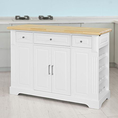 SoBuy® Luxus-Küchenwagen, Küchenschrank, Servierwagen, Kommode - küchenwagen holz massiv