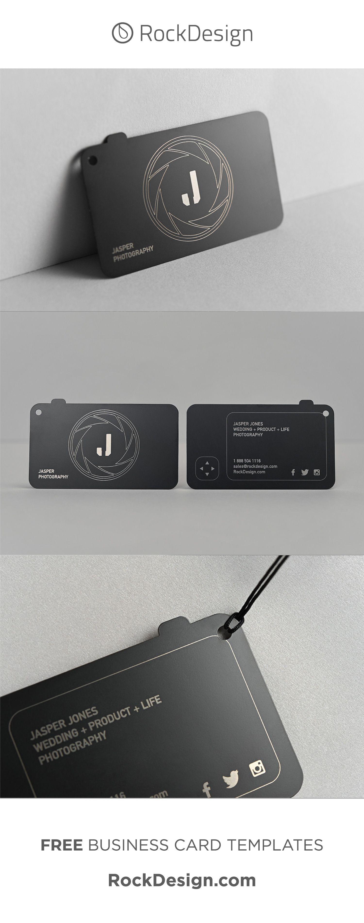 Modern Custom Shape Photographer Quick Metal Business Card Jasper P Business Cards Photography Photography Business Cards Photography Business Cards Template