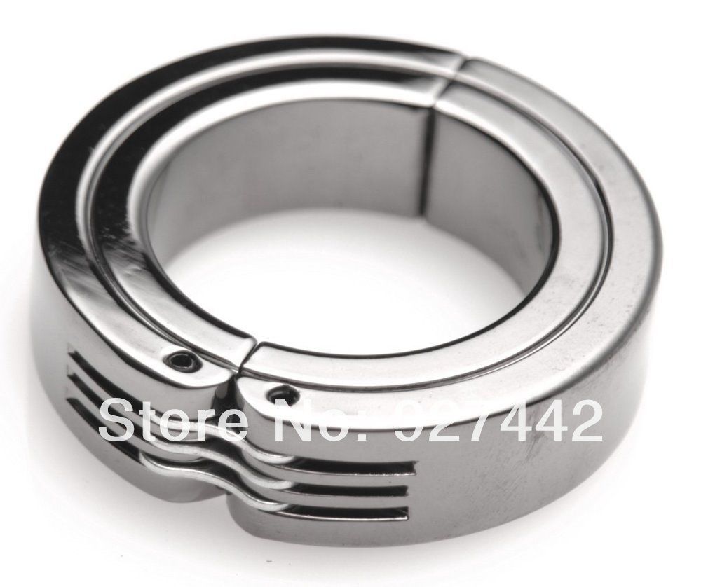 Sex toys chrome ring collar ball stretching stretcher