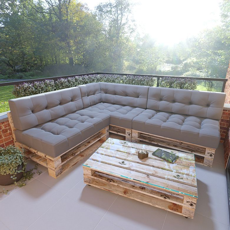 Photo of MSS® set of 7 / single cushion Relax pallet cushion pallet lounge anthracite
