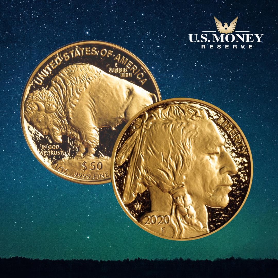 Gold American Buffalo In
