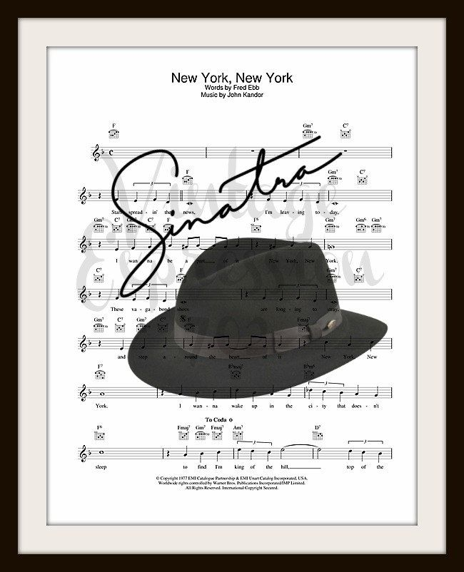 frank sinatra new york new york sheet music pdf