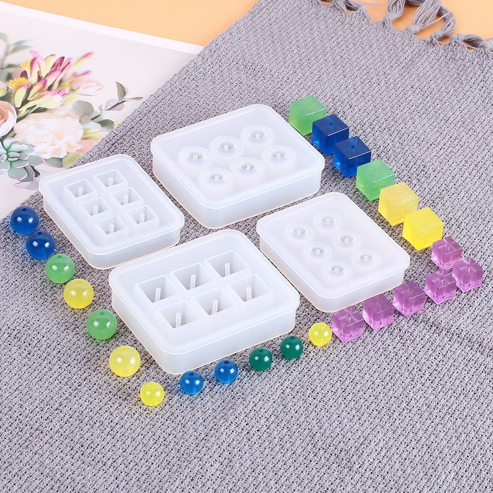 2 Pack Silicone Resin Molds 3D Polygon Resin Silicone Mold Crystal Epoxy Mould Jewelry DIY Making Craft Tool