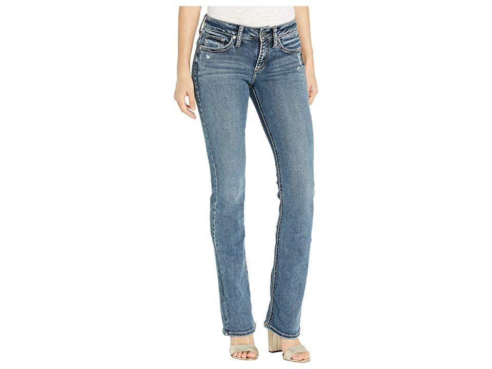 Silver Jeans Co Womens Suki Mid Rise Skinny Jeans Jeans