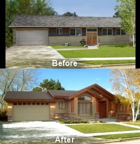Extreme house makeover 100 financing available for Exterior updates for ranch style homes