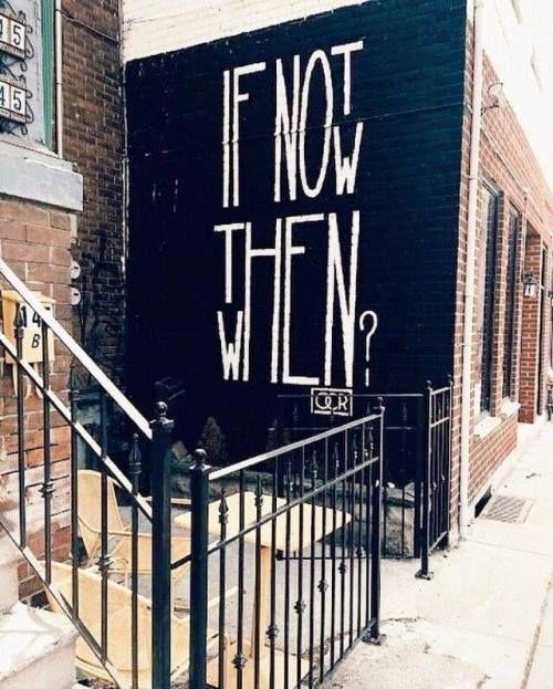 WENN NICHT JETZT WANN DANN? Street Art von OCR.